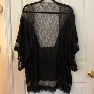 Stunning Black Lace Kimono